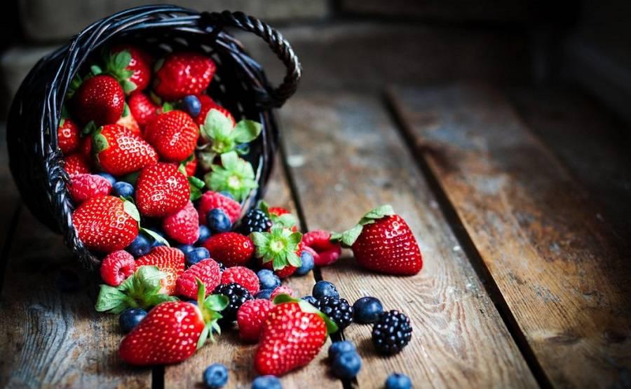 Taking berries
