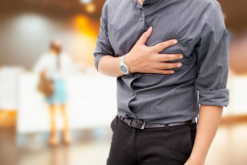 درد قفسه سینه هنگام ورزش